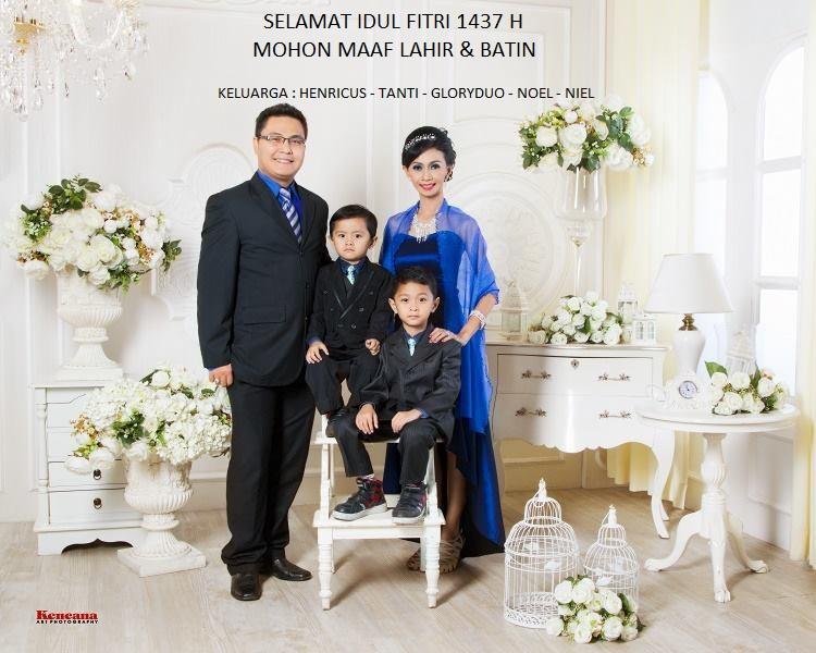 foto keluarga LEBARAN 1437H